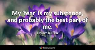 Kafka Quotes Extraordinary My 'fear' Is My Substance And Probably The Best Part Of Me Franz