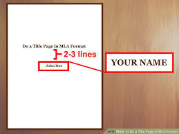 Mla Formatted Cover Page Custom Paper Example