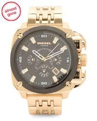 watches t j maxx men s chronograph bamf bracelet watch in gold