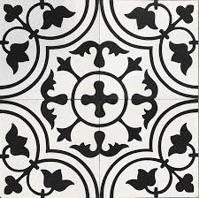 handmade encaustic tulips black fleur cement tiles