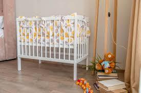 <b>Кроватка</b> детская приставная <b>Polini Simple</b> 100, белый <b>Polini</b>-kids