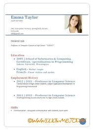Sample Curriculum Vitae For Job Application Curriculum Vitae Format Pdf Sample Cv For Job Application