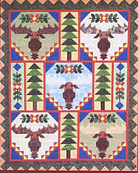 Trophy Bull Moose Quilt Pattern Moose Quilt Pattern Chickadee ... & Trophy Bull Moose Quilt Pattern Moose Quilt Pattern Chickadee Charms Designs Adamdwight.com