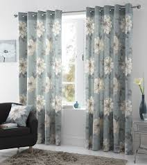 Living Room Ready Made Curtains Annabella Floral Lined Eyelet Curtains Ready Made Ring Top Curtain