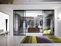 cool closet ideas gray modern style walk in apartment closet ideas with sliding glass door white