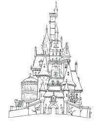 castles coloring page wallpaper pages disney castle cinderella colouring drawing simple