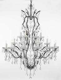 19th c rococo iron crystal chandelier lighting h 52