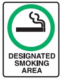 Smoking Allowed Picto Designated Smoking Area Sign Metal H300mm X