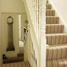 Small Picture Stripe Stair Carpet not sure how it would work on the turn in