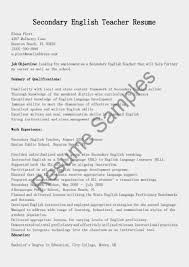 100 Sample English Teacher Resume Resume English Template