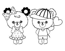 Disegno Di Kawaii Orsi Amore Da Colorare Acolorecom