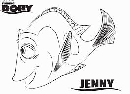 Dory Coloring Pages Lovely Finding Dory Characters Coloring Pages