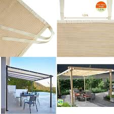 details about pergola roll up outdoor porch shades patio blinds deck sun screen canopy 12x10ft