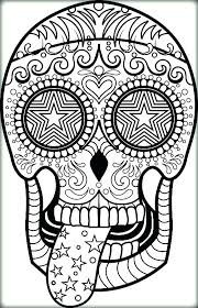 Sugar Skull Coloring Pages For Adults Sugar Skulls Coloring Pages