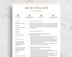 Clean Modern Resume Modern Resume Template For Word Clean Resume Design Two Etsy