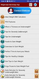 Diet Food Chart For Weight Gain 8 Best Android Apps To Gain Weight The Healthy Way Techwiser