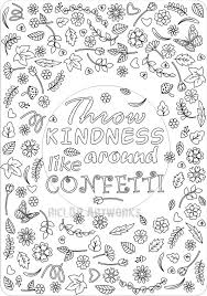 Small Picture Printable Throw Kindness Around Like Confetti