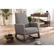retro living room furniture. Strick \u0026 Bolton Basie Mid-century Modern Grey Upholstered Rocking Chair Retro Living Room Furniture
