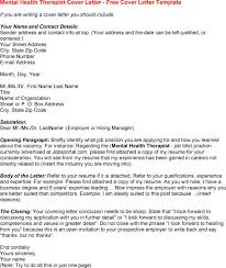 Sample Cover Letter For Mental Health Counselor Position