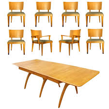 Heywood Wakefield Butterfly Dining Table And Eight Chairs at 1stdibs