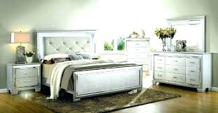 Weathered Bedroom Furniture White Bed Frame Rustic Modern Washed ...