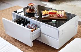 sobro smart coffee table w fridge speakers led lights and charging