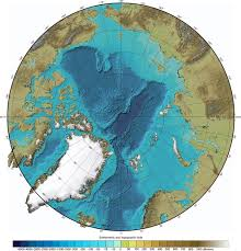 What Do The Colors Denote In A Bathymetric Chart Arctic Ocean Bathymetry Map North Pole Map Cartography