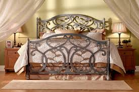 wrought iron and wood furniture. Choosing Your Wrought Iron Bedroom Set : Retro Furniture Idea With Gray Bed And Wood