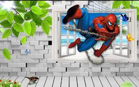 spiderman kids 3d 5d 8d wall