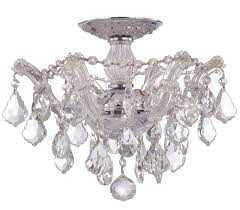 marvelous crystal flush mount chandelier pics as your yessica rhinestone silver shade semi flush mount
