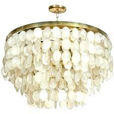 white capiz shell chandelier shell chandelier large rectangle