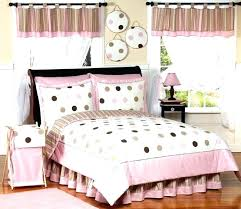 girly bedroom sets girly bedding sets queen pink and brown modern dots teen bedding 3 full