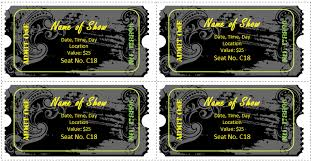 Concert Ticket Layout Beauteous 48 Ticket Templates For Word To Design Your Own Free Tickets
