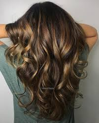 Dark Brown Hair With Chunky Golden