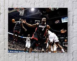 Lebron James Dwyane Wade NBA Poster Standard Size   18-Inches by ...