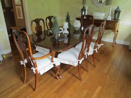 antique dining room furniture set with white seat cover