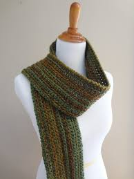 Ribbed Scarf Pattern Fascinating Fiber Flux Free Crochet PatternWise Oak Ribbed Scarf