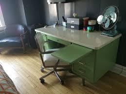 vintage steel tanker desk