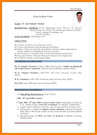 Resume For Teachers In Indian Format Sidemcicek Com