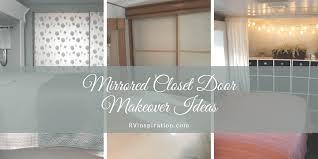 sliding mirror closet doors. RV Bedroom Mirrored Closet Door Makeover Idea For Renovation Or Remodel Sliding Mirror Doors