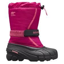 Sorel Childrens Flurry Kids Boots Deep Blush Tro