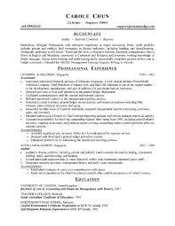 Example Of Accounting Resume Examples Of Resumes