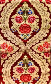 Tibetan Fabric Design Tibetan Red Brocade Fabric With Woven Roses Brocade Fabric