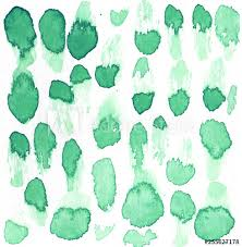 hand drawn watercolor mint green spots