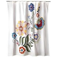 mudhut shower curtain bold pattern