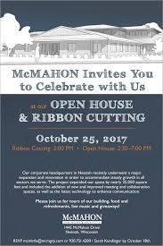 Invitation To Open House Mcmahon Digital Invitation Open House