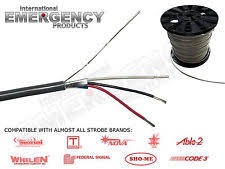 strobe cable in strobe & beacon lights for sale ebay Variable Speed Strobe Light Wiring Diagram at 3 Wire Strobe Light Wiring Diagram