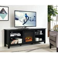 inch black wood fireplace stand tv costco