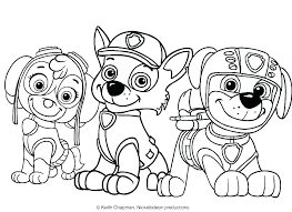 Paw Patrol Colouring Pages Rubble Chase Coloring Page Astounding