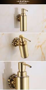 wall mounted carving antique bronze finish brass material soap dispenser bathroom accessories soap dispenser 10704f